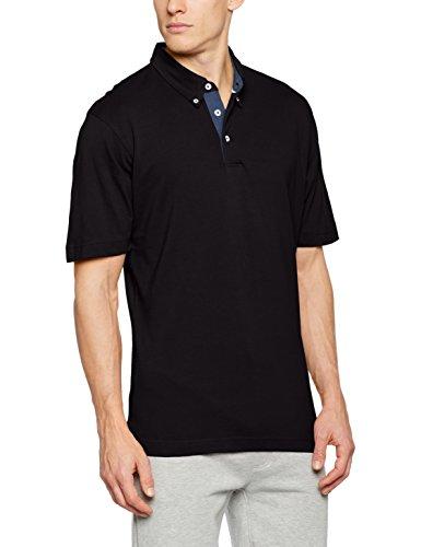 James & Nicholson Herren Poloshirt Men´s Plain Polo Schwarz (Black/Light-Denim)