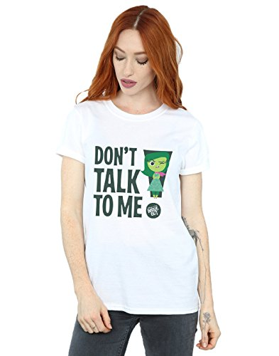 Inside Out Damen T-shirt (Disney Damen Inside Out Don't Talk To Me Boyfriend Fit T-Shirt XXX-Large Weiß)