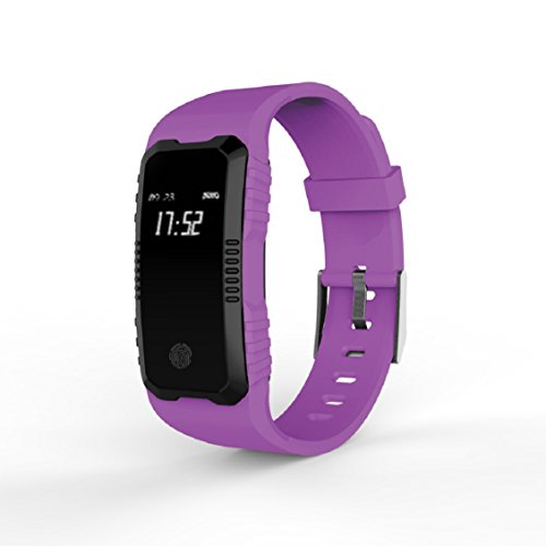Preisvergleich Produktbild Multifunktions-Wasserdicht Smart Uhren,  mamum Herzfrequenz Blutdruckmessgerät Slot Handgelenk Wasserdicht Bluetooth Smart Watch schwarz / lila / gelb / orange / blau Einheitsgröße violett