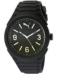 Puma Gummy Fading - Reloj análogico de cuarzo con correa de silicona unisex, color negro