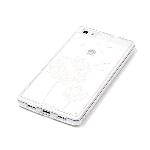 Huawei P8 Lite Cover Nera,Felfy Custodia Huawei P8 Lite Ultra Sottile Stampato Retro Disney Silicone Gomma Morbido TPU Gel Protettiva Bumper Cover Resistente Antiurto Protezione Slim Copertura della C #7