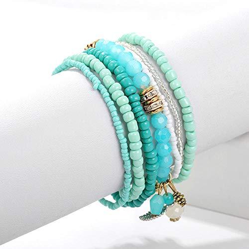 AOTEX Armbänder Armreifen Für Frauen Multi-Layer Mini Perlen Gewebt Fringe Charme Böhmischen Einstellbar Retro Cute Persönlichkeit Simple Geschenk Weiblich Handmade @ 04. Multi Fringe
