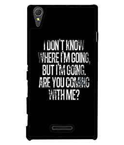 Crazymonk DIGITAL PRINTED BACK COVER FOR SONY XPERIA T3