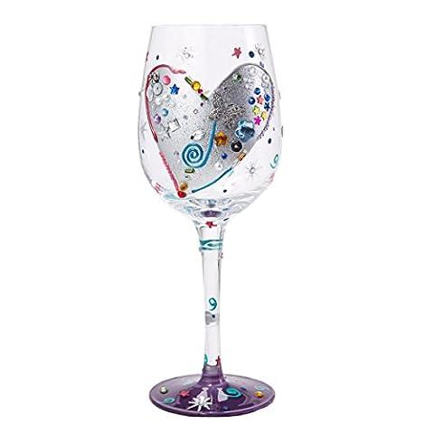 Lolita GLS11-5511V Verre Silver Lining Standard Verre à Vin Multicolore 22,5 cm
