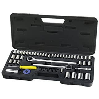 Tool House 770002 52-Piece Metric and Fractional Bit Tip and Socket Wrench Set by Alltrade