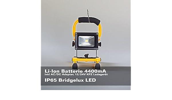 LED Akku Strahler 10W Weißlicht Fluter Arbeitsleuchte Baustrahler