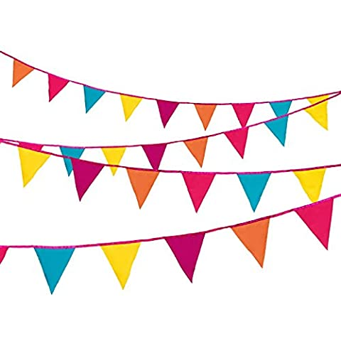 Talking Tables Decadent Decs Hanging Bunting Banner 3m for a General Party Decoration, (Bunting Modello)