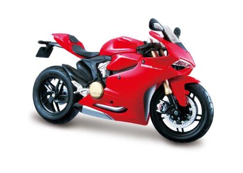 Maisto Ducati 1199 Panigale: Originalgetreues Motorradmodell im Maßstab 1:12, mit Federung und Seitenständer, 17 cm, spezielles Ducati-Rot (511108)