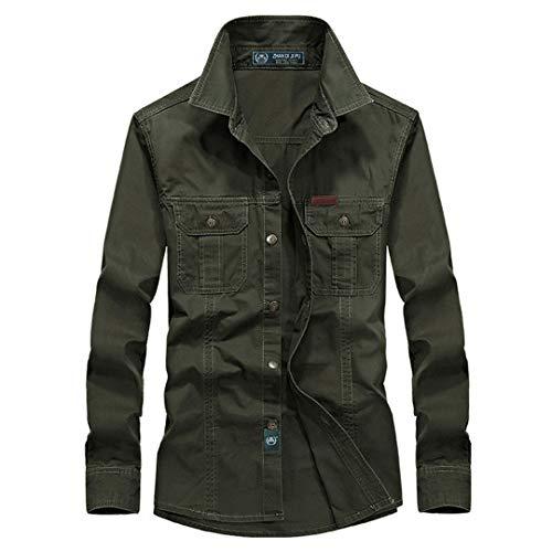 BEAUTFULES Plus Size Military Quality Shirt Europa Herren Herbst Casual Man Frühling 100% Baumwolle Langarm Shirts XXXL (Vans-junioren)