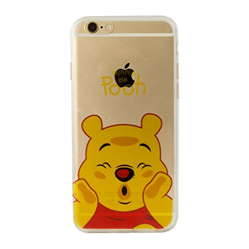 VCOMP® Transparente Silikon TPU Handy Schutzhülle mit Motiv Cartoon Disney für Apple iPhone 5/ 5S/ SE - Winnie the Pooh Winnie the Pooh + Mini Eingabestift
