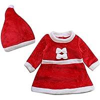 Le SSara Bebé Invierno Navidad Cosplay Vestido Traje recién Traje Sombrero 2pcs