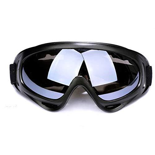 Lyanther Packung mit 1 Skibrille, Outdoor-Brillen Snowboard Skibrille Motorradbrille Augenschutz Staubschutz Schutzkombi Spiel-Spiele Schutzbrille mit UV-Schutz, Winddicht, Anti-Glare (Grau)