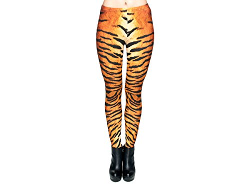 Print Leggings Damen 30 Modelle Gym Leggins Legins Ladies Hipster Pants von Alsino LEG-018 Tiger