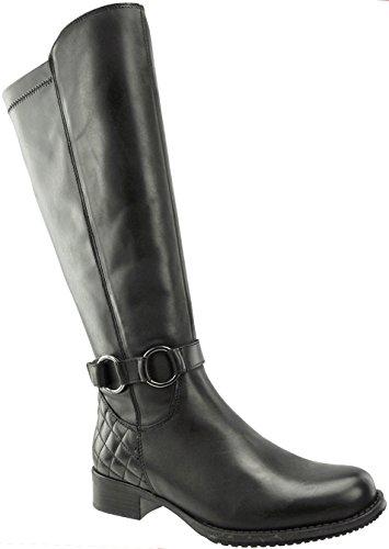 JJ Footwear, Bottes pour Femme Schwarz Nappa