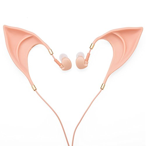 Kostüme Ohr (In-Ear-Kopfhörer Elf Earbuds Kopfhörer - Elegant Elfen Ohr Design Ultra-Soft Corded Fairy's Adorable Spirit Cosplay Headset Perfekten Sound Qualität Kopfhörer Kostüm)