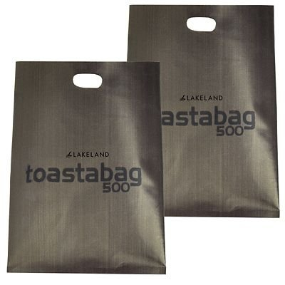Lakeland Reusable Toastabags - Makes Toasted Sandwiches in a Toaster, Pack of 2