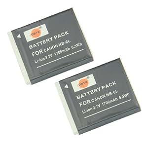 DSTE® 2x NB-6L Ricaricabile Li-ion Batteria per Canon PowerShot SX170 SX240 SX260 SX270 SX280 SX500 SX510 SX600 SD770 SD980 SD1200 SD1300 ISD3500 SD4000 IS Macchina Fotografica come CB-2LY