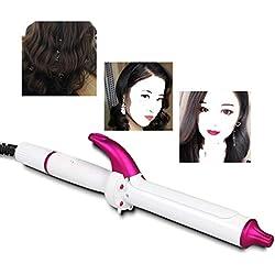 Dr.Lefran 2-en 1 Cheveux Curler, Tourmaline en Céramique Voyage Mini Cheveux Plat en Fer, Chauffe Rapidement, Température Réglable, Auto Arrêt Costume Rapide Cheveux Styler