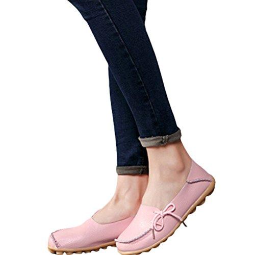 Vogstyle Donna Scarpe Col Tacco Basso Piatto Casuali Comfort Pompe Espadrillas Scarpe Stile-1 Rosa