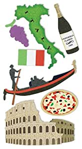 sandylion stickers de luxe essentials 3d motif vacances italie cuisine maison. Black Bedroom Furniture Sets. Home Design Ideas