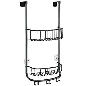 interdesign forma badregal zum h ngen kleine duschablage aus metall mattschwarz. Black Bedroom Furniture Sets. Home Design Ideas