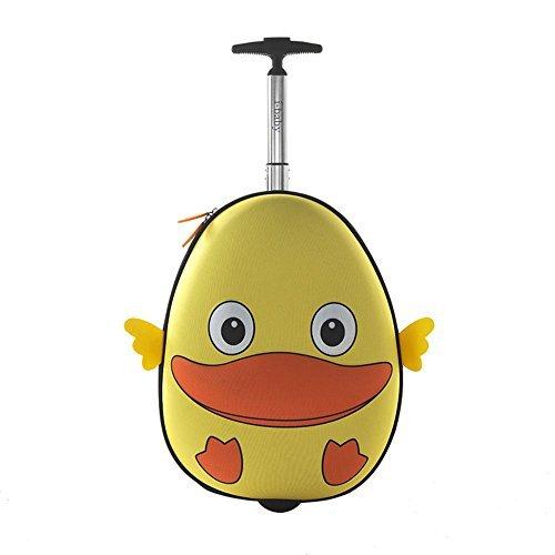 i-baby Maleta Infantil Cabina Mediana Con Ruedas Trolley Equipaje de Mano Rígido para Viaje Niños Niñas Favoritos Juguetes 3D Dibujos Animados para Chicos Chicas 4-10 años (Pato Amarillo)