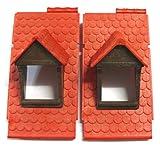 playmobil ® - 2 Dachteile Dächer mit Gaube - 4300 - Dachfenster