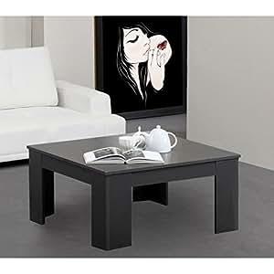 CLARA table basse 80cm carrée gris