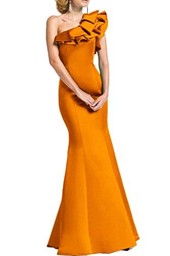 Sunvary Beliebt Meerjungfrau perlen Steine Abendkleider Lang Party Fest Ballkleider Orange