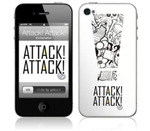 MusicSkins Attack! Attack! UK- selbstklebendeSchutzhülle für Apple iPhone4