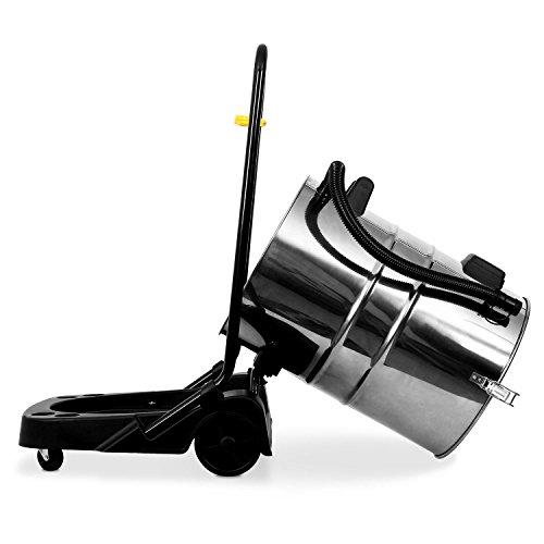 Klarstein IVC-80 Nass-Trockensauger Industriesauger mit Zubehör (Beutellos, 80 Liter Edelstahl Behälter, 3000 Watt Saugleistung, regulierbare Saugstärke) schwarz-rot -