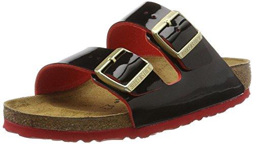 Birkenstock Women's Arizona Open Toe Sandals, Multicolor (Vernis Two Tone Black), 4...