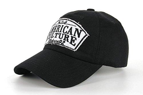 Funny hat Printemps Automne Unisexe Loisirs Simplicité Coton réglable Broderie Baseball/Casual Sport Outdoor Snapback Casquette avec Broderie American