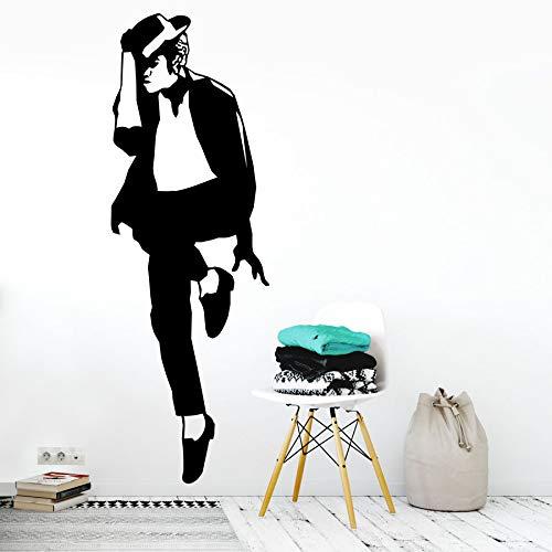 zqyjhkou Wandkunst Aufkleber Vinyl Aufkleber Dekor Wandbild Transfer Musik Mj Cool Wandaufkleber Wandtattoo Ay354 57x167cm -