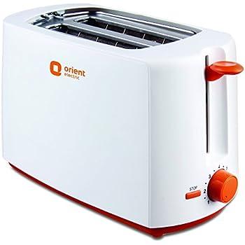 Orient Electric PT2S06P 2 Slice Pop Up Toaster Plastic Body (White)