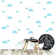 The Boho Design Clouds Wall Vinyl Decal Decor Nursery. Adhesive Cloud Stickers for Kids. Baby Nordic nubes Bed