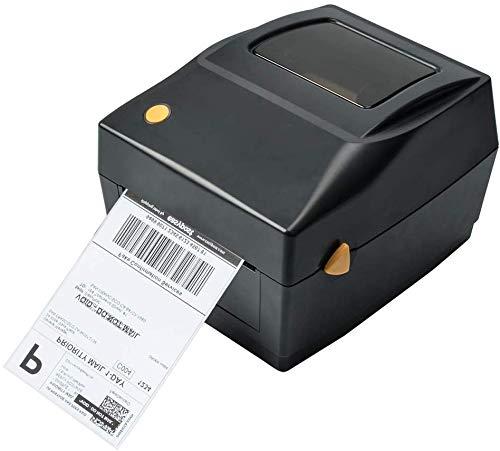 Thermodrucker Desktop Etikettendrucker Label Printer USB-Direkt Etikettier Maschinen Kompatibel mit 4 x 6 Versandetiketten, Ebay, Etsy, Shopify, Amazon Barcode