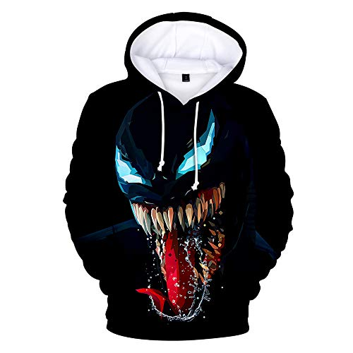 Druck-Spiel Anime Walk Casual Fashion Party Cosplay Baumwolle Produkte Alltagskleidung Unisex Hoodie Sweatshirt Venom XL ()