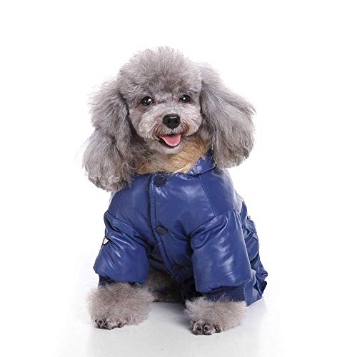 Haustier-Kleidung Pet Coat Hoodie Air Force Suit Pet Clothes for Dogs Military Uniform Winter Warm Pet Clothing (Color : Blue, Size : L)