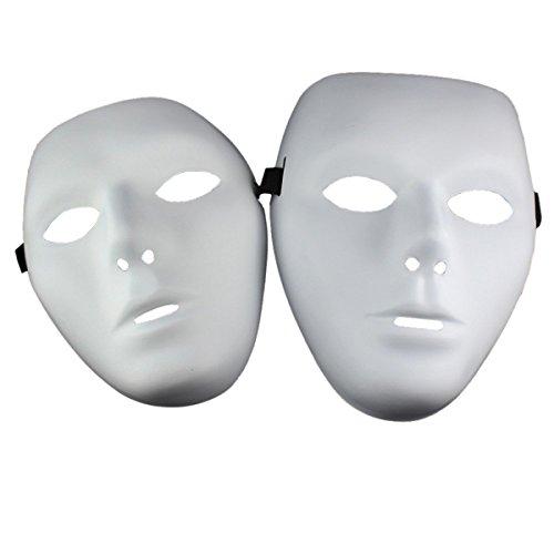Kostüm Jabbawockeez (THEE 2 Paare Hiphop Maske für Halloween Kostüm Party Weiße)