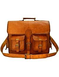 IHandikart Handmade Leather Bag|Hand Bag|Shoulder Bag| Brown Bag|Backpack 4x15 Inch