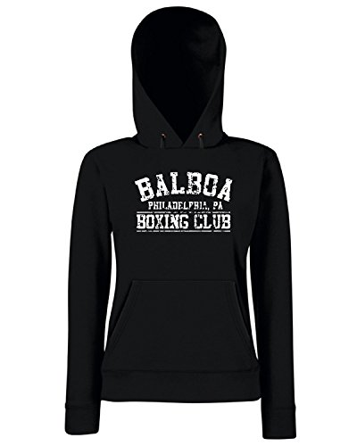 T-Shirtshock - Sweats a capuche Femme TR0008 Balboa Boxing Club Noir