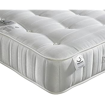 Orthopaedic Open Coil Spring, Happy Beds Super Ortho Medium Firm Tension Mattress with Reflex Foam - 4ft6 Double (135 x 190 cm)