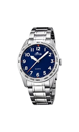 Lotus 18275/2 - Reloj de pulsera de cuarzo analógico unisex, acero inoxidable
