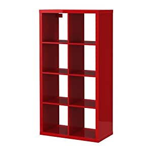 ikea kallax regal in hochglanz rot 77x147cm kompatibel mit expedit k che haushalt. Black Bedroom Furniture Sets. Home Design Ideas
