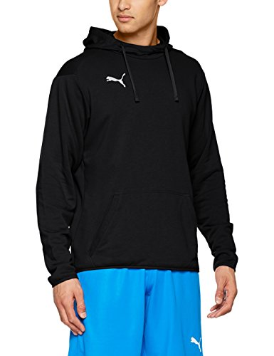 Puma Herren LIGA Casuals Hoody Sweatshirt, schwarz Black White), M - Für Immer Hoody Sweatshirt