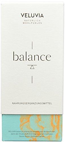 VELUVIA balance 07987 Nahrungsergänzungsmittel | Säure Basen Haushalt | Vitamin D3, Calcium, Magnesium, Zink | Superfood Mix | Gleichgewicht & Regulator | 4 x 30 Kapseln | 1 Monat