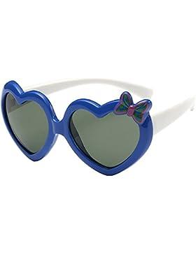 Bambini Ragazzo Ragazze Classico A Forma Di Cuore All'Aperto Polarizzate UV400 Ovali Occhiali Da Sole