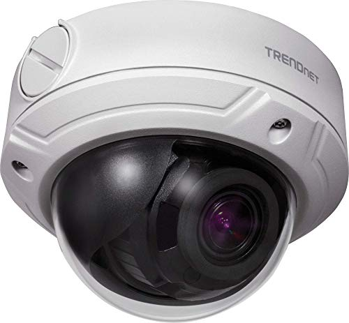 TRENDnet Indoor/Outdoor 4 Megapixel überwachung, Varifokal PoE IR Dome Netzwerk Kamera, Auto-Fokus, Manuelles Pan/Tilt, TV-IP345PI (Webcam, Wlan, Tv)