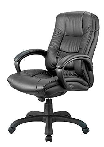 Nicer Furniture® Executive Middle Back Chair (Real Leather)